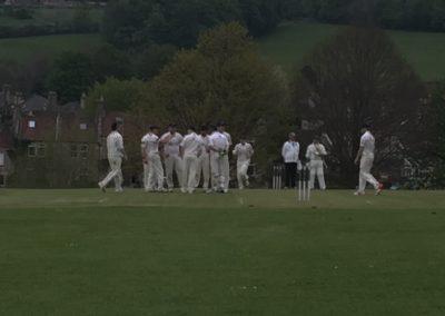Sheryas takes a wicket